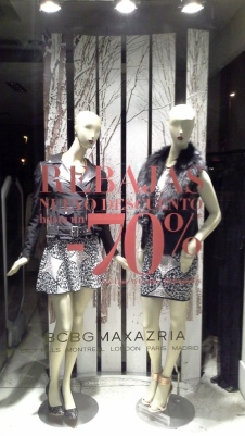 BCBGMAXAZRIA ESCAPARATE SALE DIAGONAL TEVIAC ESCAPARATISMO EN BARCELONA #escaparate #barcelona #teviac #marketingonline (3)